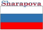 Sharapova Russia Flag