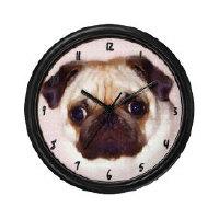 Pug Art Wall Clocks
