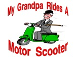 Grand Pa Rides A Motor Scooter