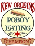 New Orleans Poboy Eating Champ