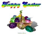 Happy Easter Bunny and Basket