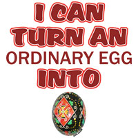 Ordinary Egg into Pysanka