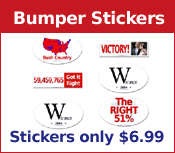 PATRIOTIC BUMPER STICKERS