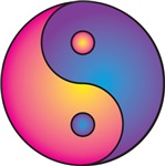 Yin Yang in Vibrant Color