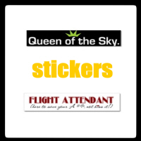 FLIGHT ATTENDANT/PILOT BUMPER STICKERS
