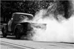 Rusty Rubber Burning 1955  Truck