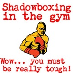 Shadowboxing in the gym