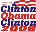 Clinton Obama Clinton 2008