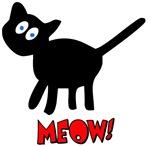 Cute Fuzzy Black Kitty