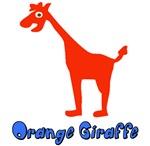 Cute Orange Giraffe
