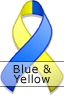 Blue and Yellow Ribbon