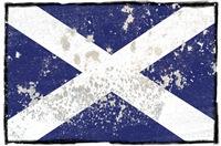 Scottish flag the Saltire