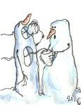 David Street Art ~ Snowmen No. 2