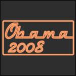 Neon Orange Obama 2008