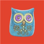 Retro Vintage Owl Toy Prints and Gifts