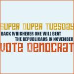 Super Tuesday Vote Democrat