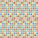 Multi-Colored Funky Retro Dots