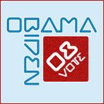Modern Red and Blue Vote Obama-Biden 08