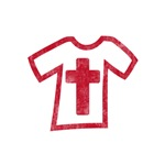 Pretty red christian cross 5 U G