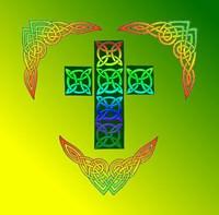 Glowing Celtic Cross