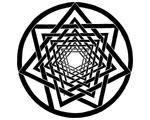 20. Interlaced Spiral Heptagram - Solid