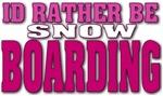 Snowboarding pink
