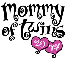 Mommy Of Twins 2014 t-shirt