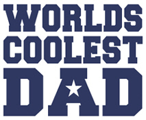 Worlds Coolest Dad t-shirts