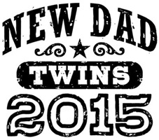 New Dad Twins 2015 t-shirt