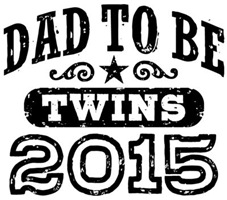 Dad To Be Twins 2015 t-shirt