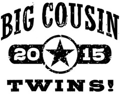 Big Cousin Twins 2015 t-shirt