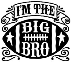 I'm The Big Bro Football t-shirt
