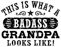 Badass Grandpa t-shirts