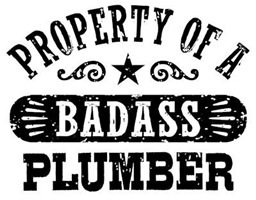 Property of a Badass Plumber t-shirts