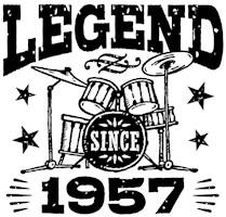 Legend Since 1957 t-shirts
