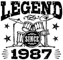 Legend Since 1987 t-shirts