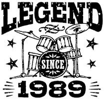 Legend Since 1989 t-shirts