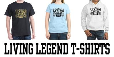 Living Legend t-shirts