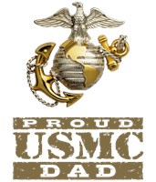 Proud USMC Dad t-shirts