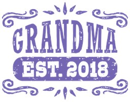 Grandma Est. 2018 t-shirts