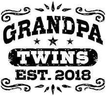 Grandpa Twins Est. 2018 t-shirts