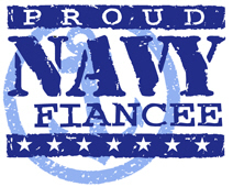 Proud Navy Fiancee t-shirts