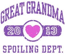 Great Grandma 2013 t-shirt