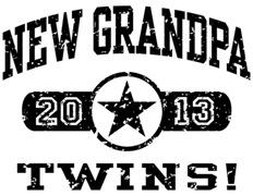 New Grandpa Twins 2013 t-shirt