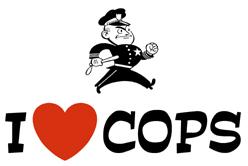 I Love Cops t-shirts