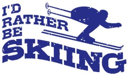 I'd Rather Be Skiing t-shirts