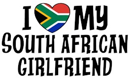 I Love My South African Girlfriend t-shirts