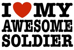 I Love My Awesome Soldier t-shirt