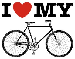 I Love My Bicycle t-shirts