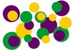Purple Green Yellow Dots